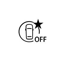 (Vzávislosti na typu vozidla) Kontrolka selhání nebo nedostupnosti aktivního nouzového brzdění