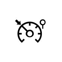 Kontrolky omezovače rychlosti, regulátoru rychlosti a adaptivního regulátoru rychlosti