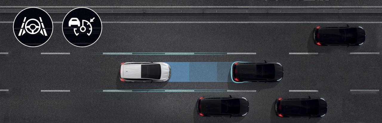 Asistent pro jízdu silniční a dálniční zácpou
